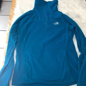 North Face 1/4 Zip fleece pullover size Small
